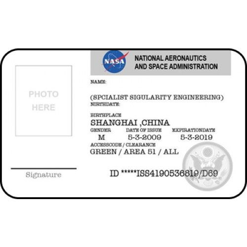 NASA ID Badge Template