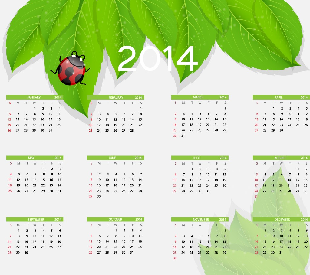 8 2014 Calendar Designs Images
