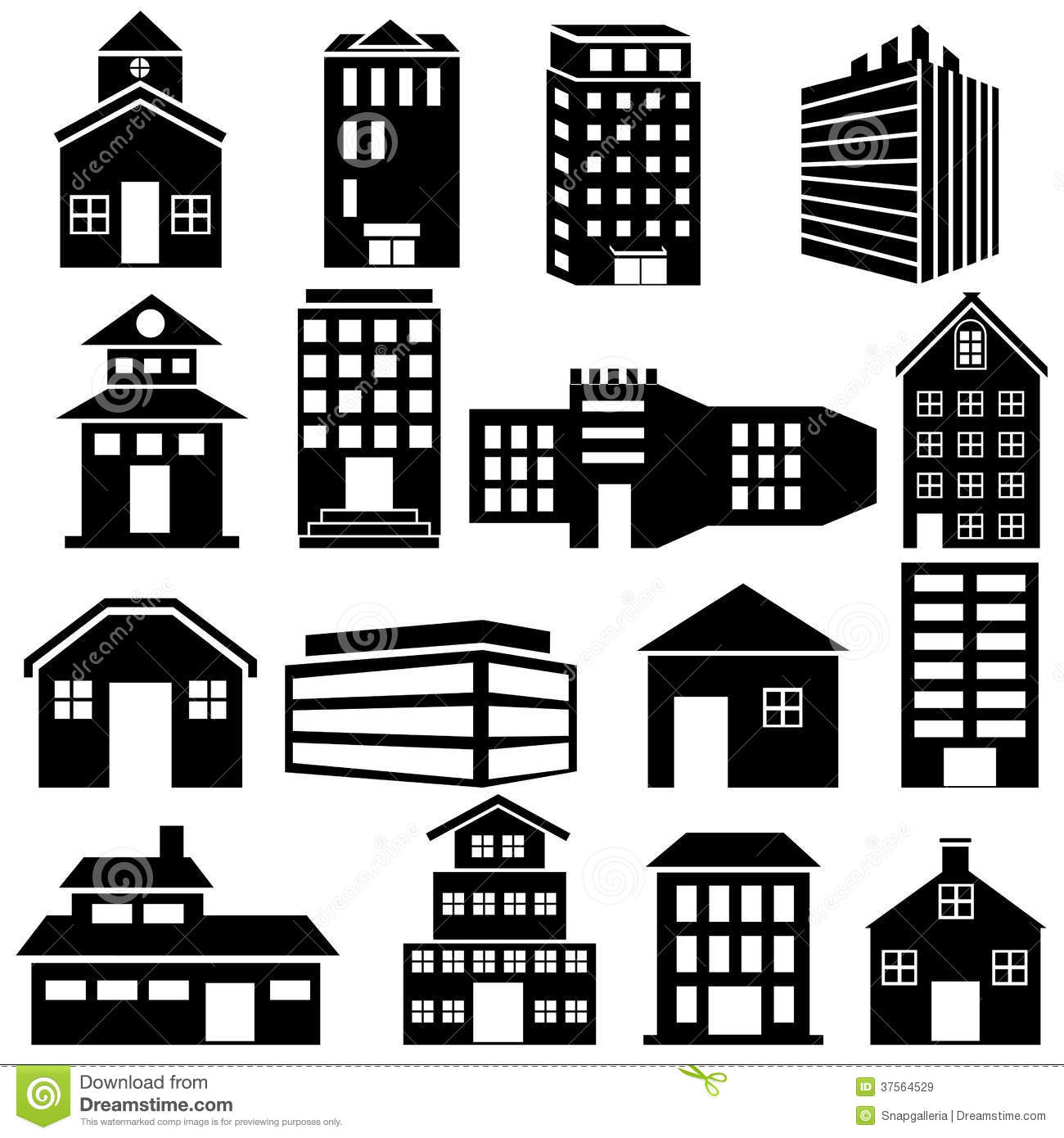 Office Building Icon Vector Free