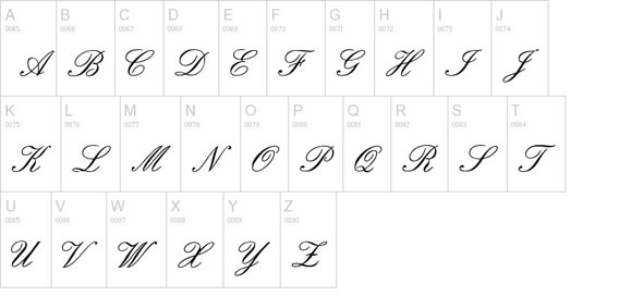 7 Old English Script Hand Font Images - Old English