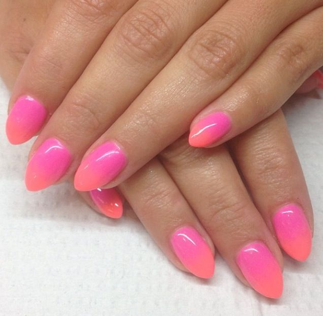 Ombre Stiletto Nails Pink