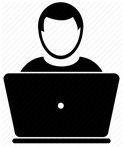 Person at Computer Icon