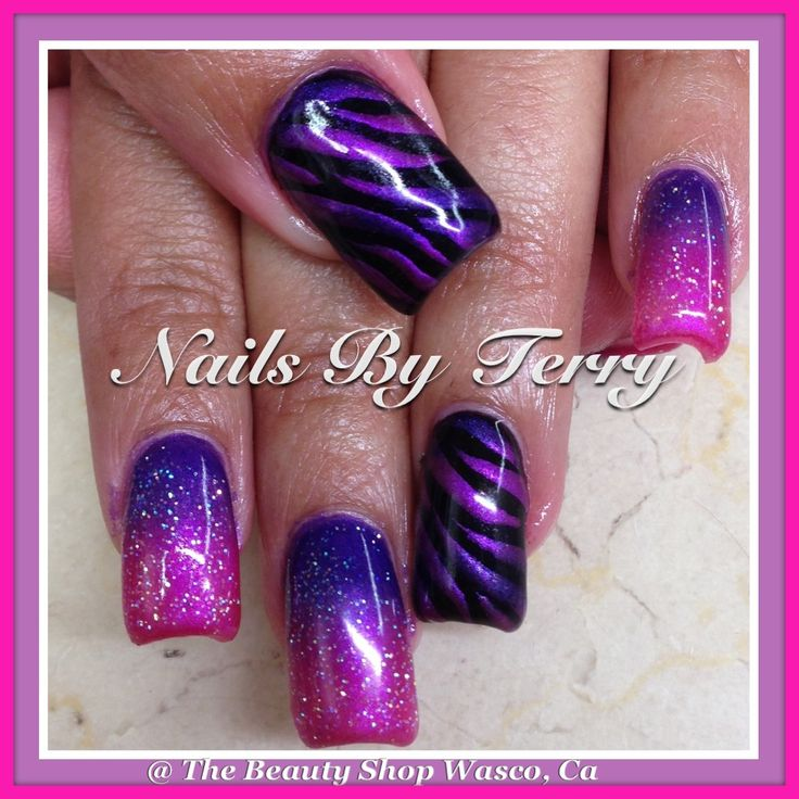 14 Purple And Pink Nail Designs Images Pink And Purple Nails Art