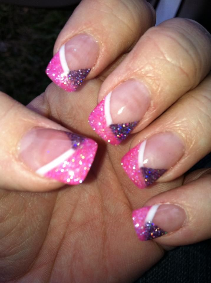 14 purple and pink nail designs images pink and purple nails art pink and purple glitter nails prinsesfo Images
