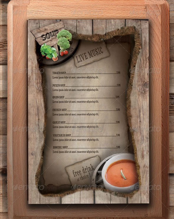 18 Cafe Menu Design Ideas Images