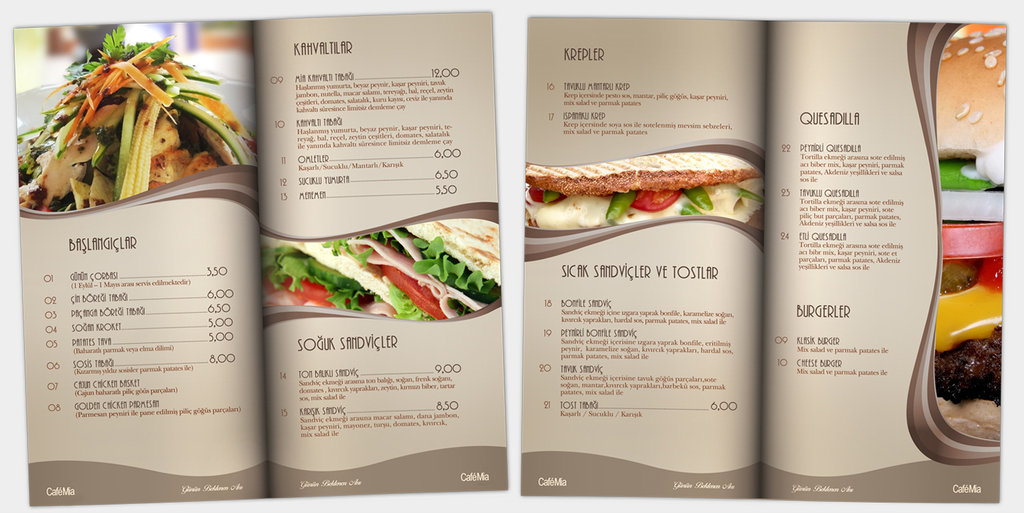 Restaurant Menu Design Ideas