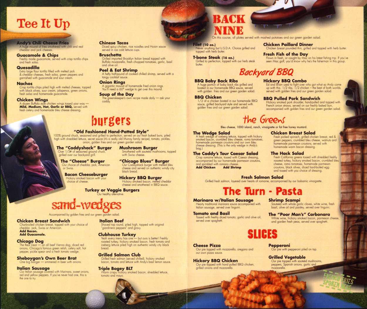 Restaurant Menu Examples