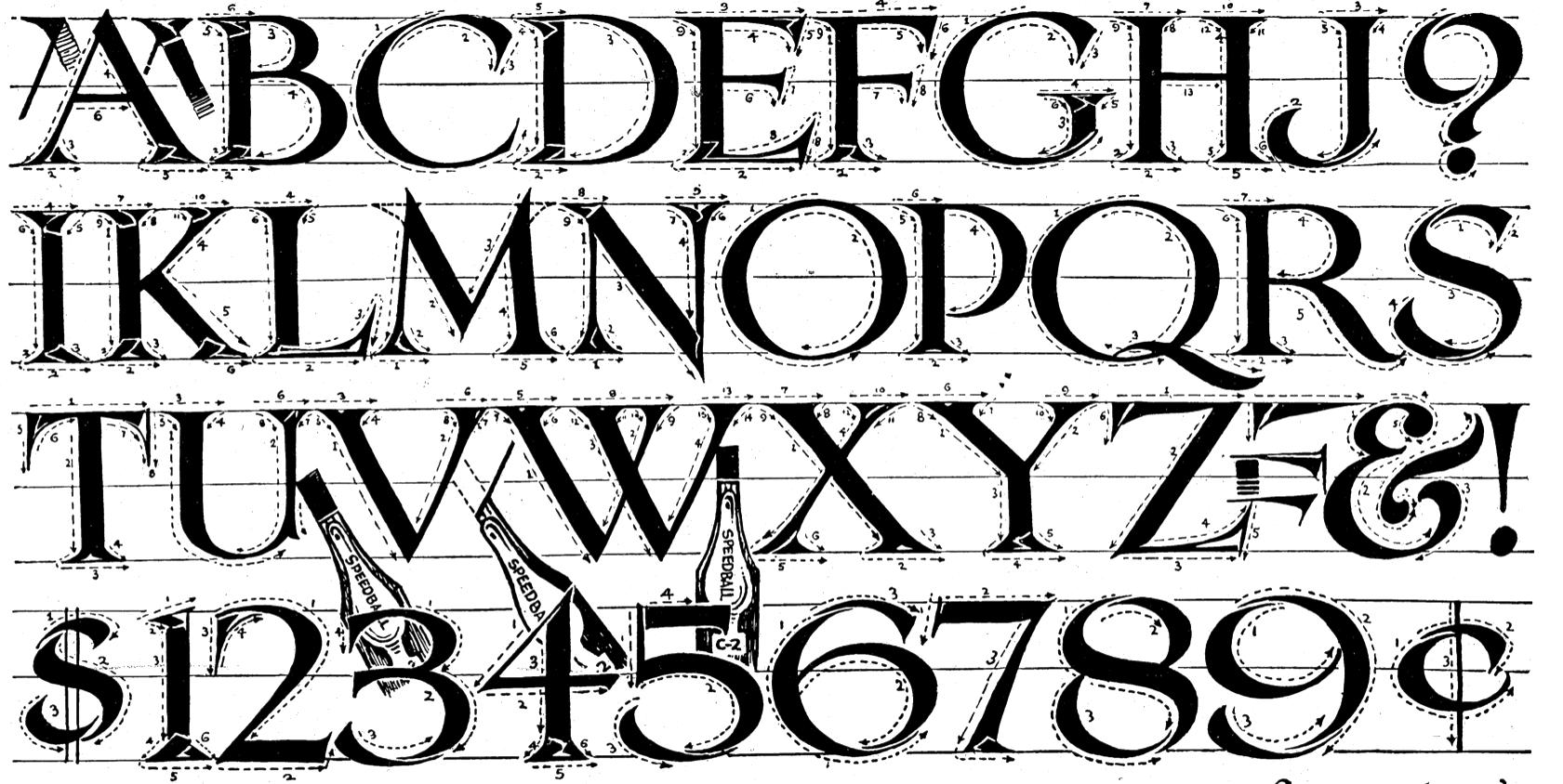 Roman Calligraphy Lettering