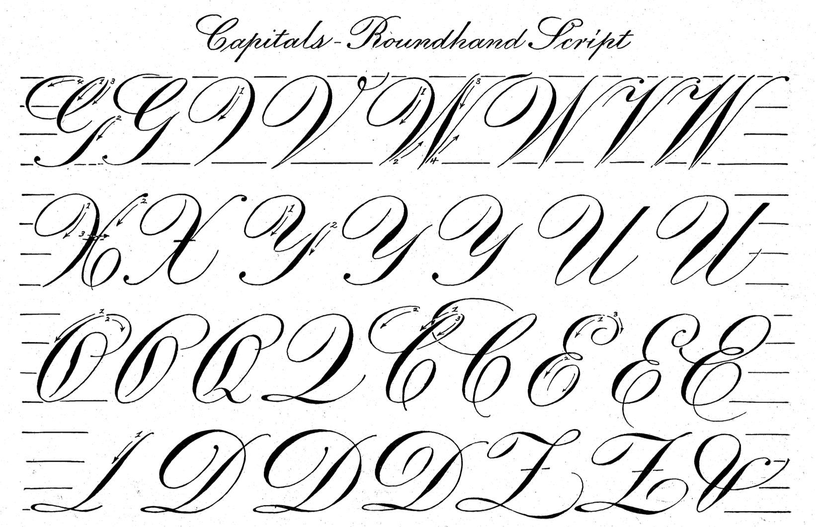 Roman Numeral Script Font