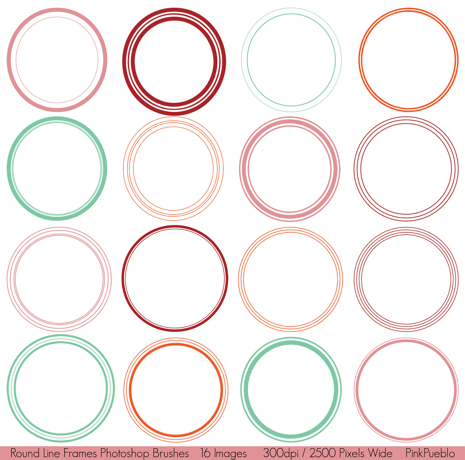 13 circle frames and borders photoshop images round