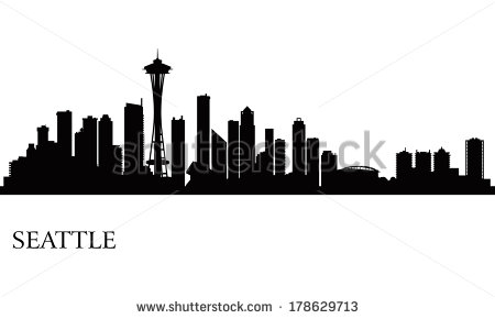 12 Seattle Skyline Vector Images