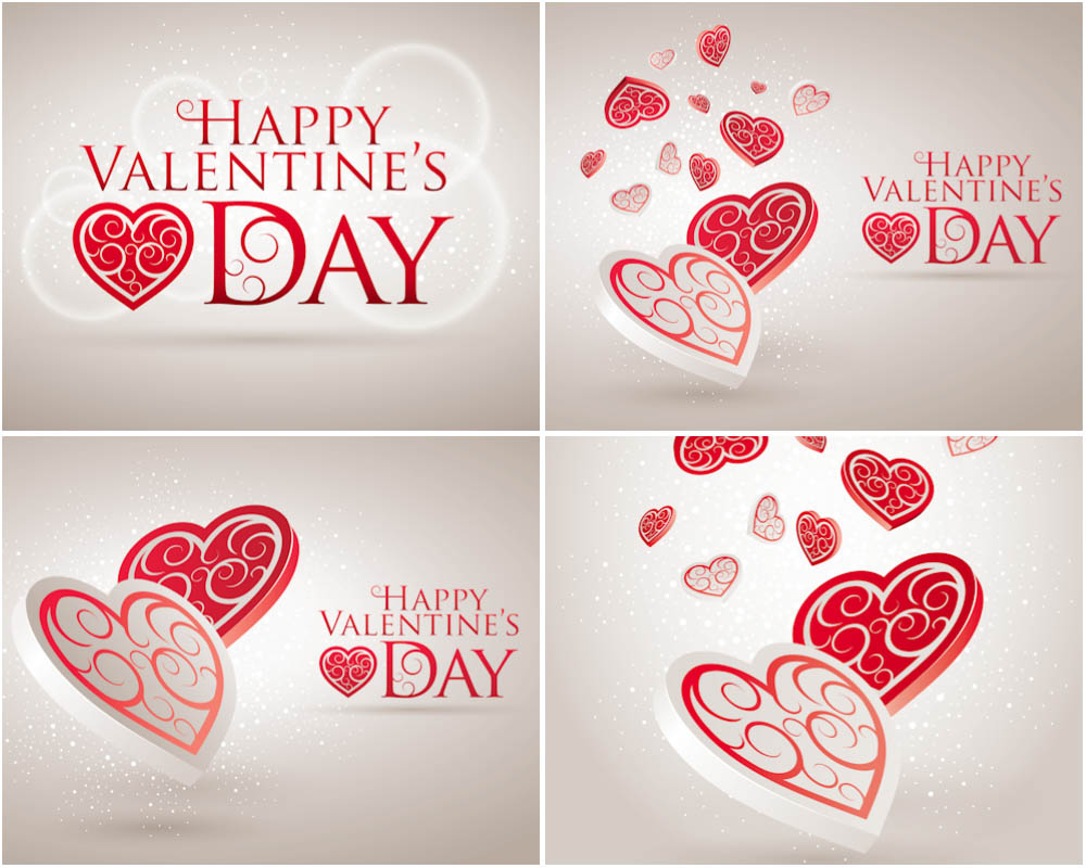 12 Simple Valentine Vectors Images