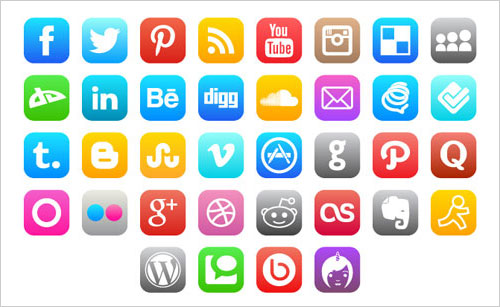17 Apple Social Media Icons 2014 Images