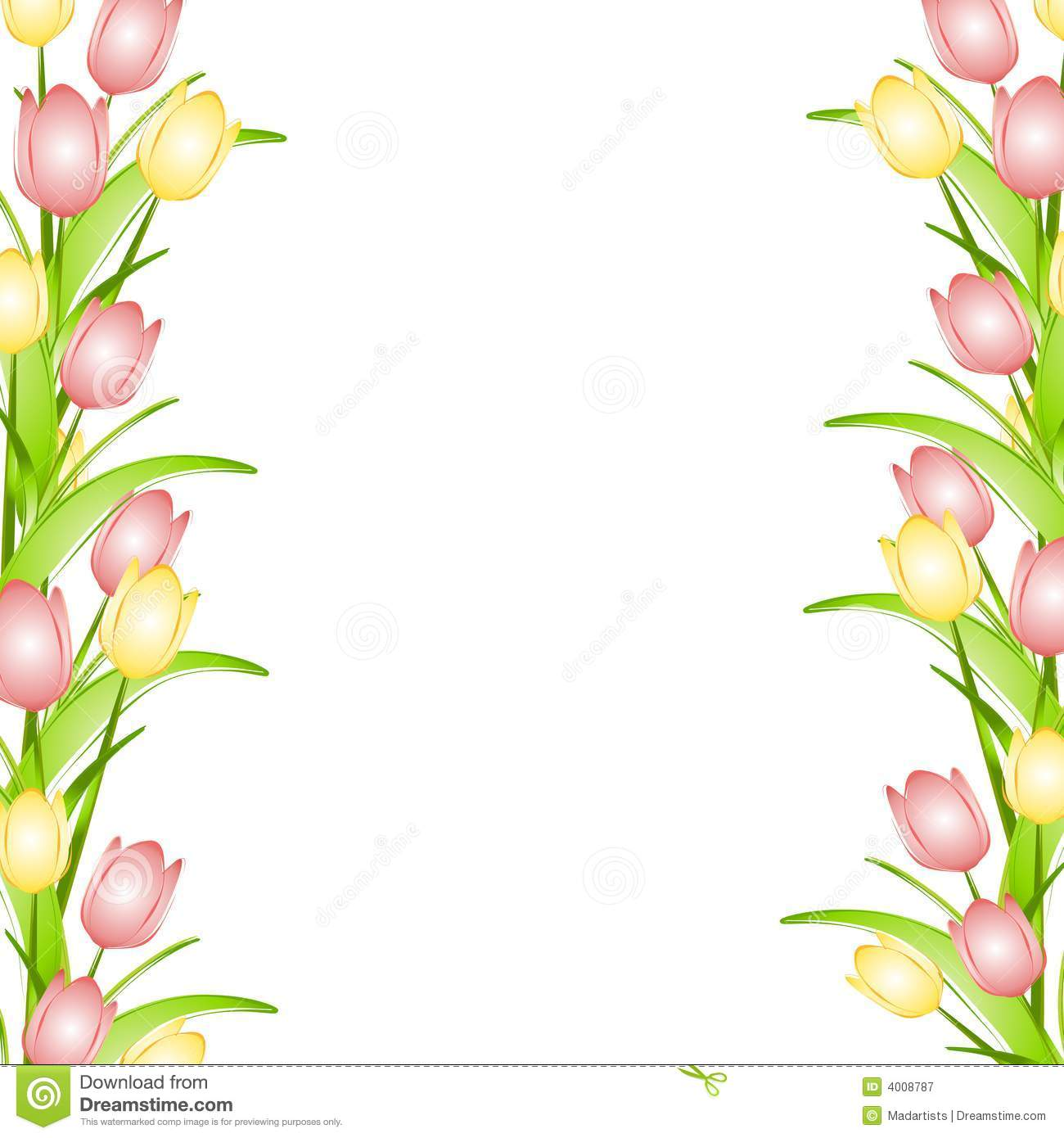 Spring Flowers Page Borders
