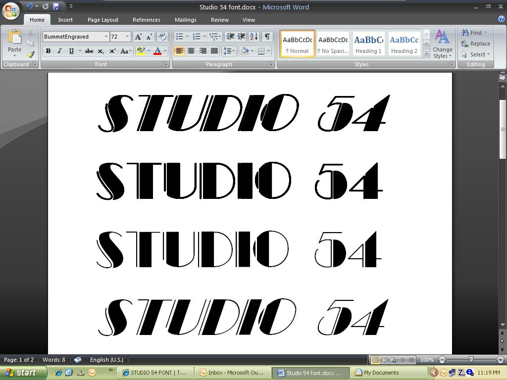 11 Broadway Font Numbers Images Studio 54 Logo Font