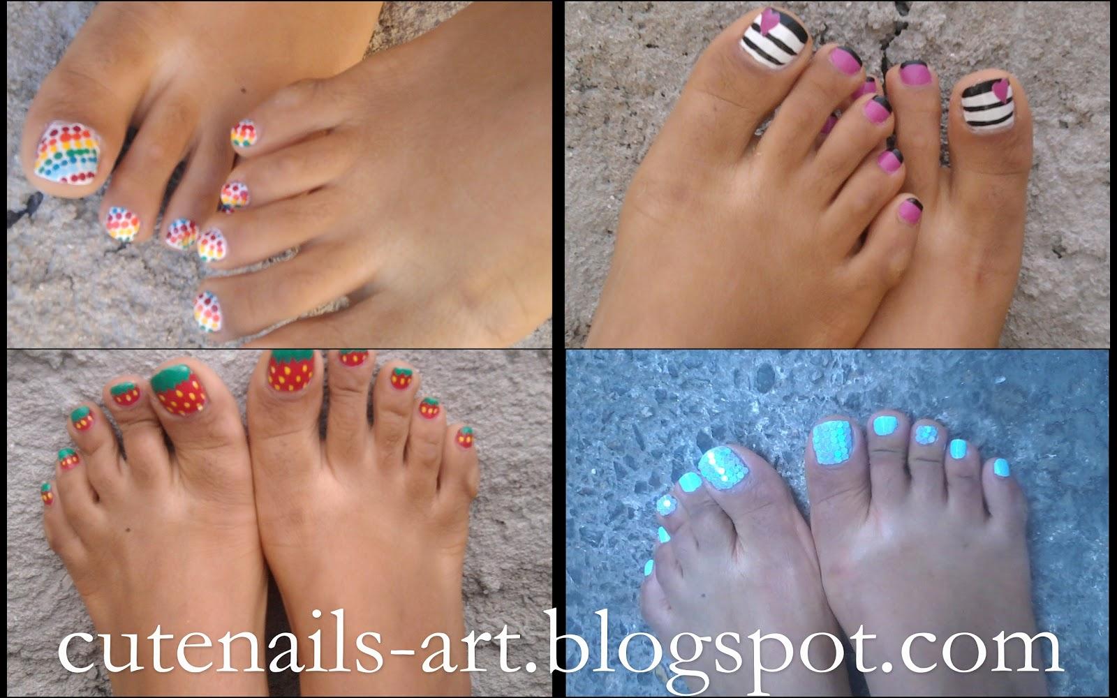 16 Fun Summer Toe Nail Designs Images