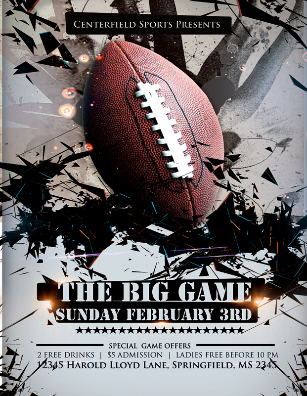 Super Bowl Flyer Template Free