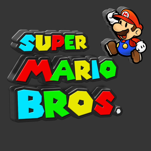 Super Mario 3D Text Photoshop