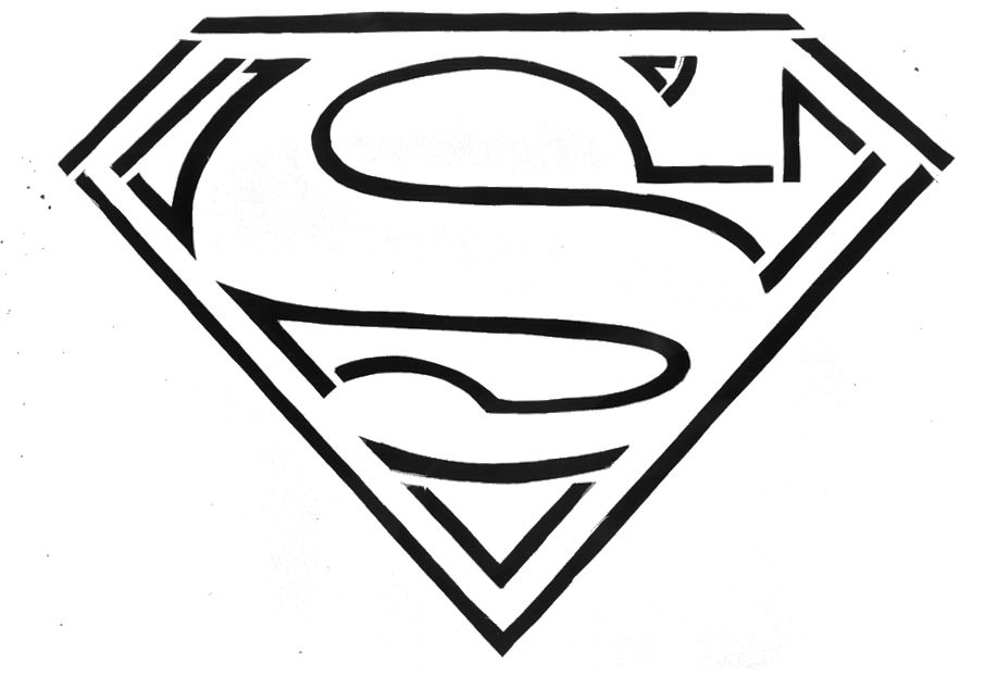 photo regarding Superman Logo Printable titled 15 Superman Symbol Template Shots - Printable Superman Emblem