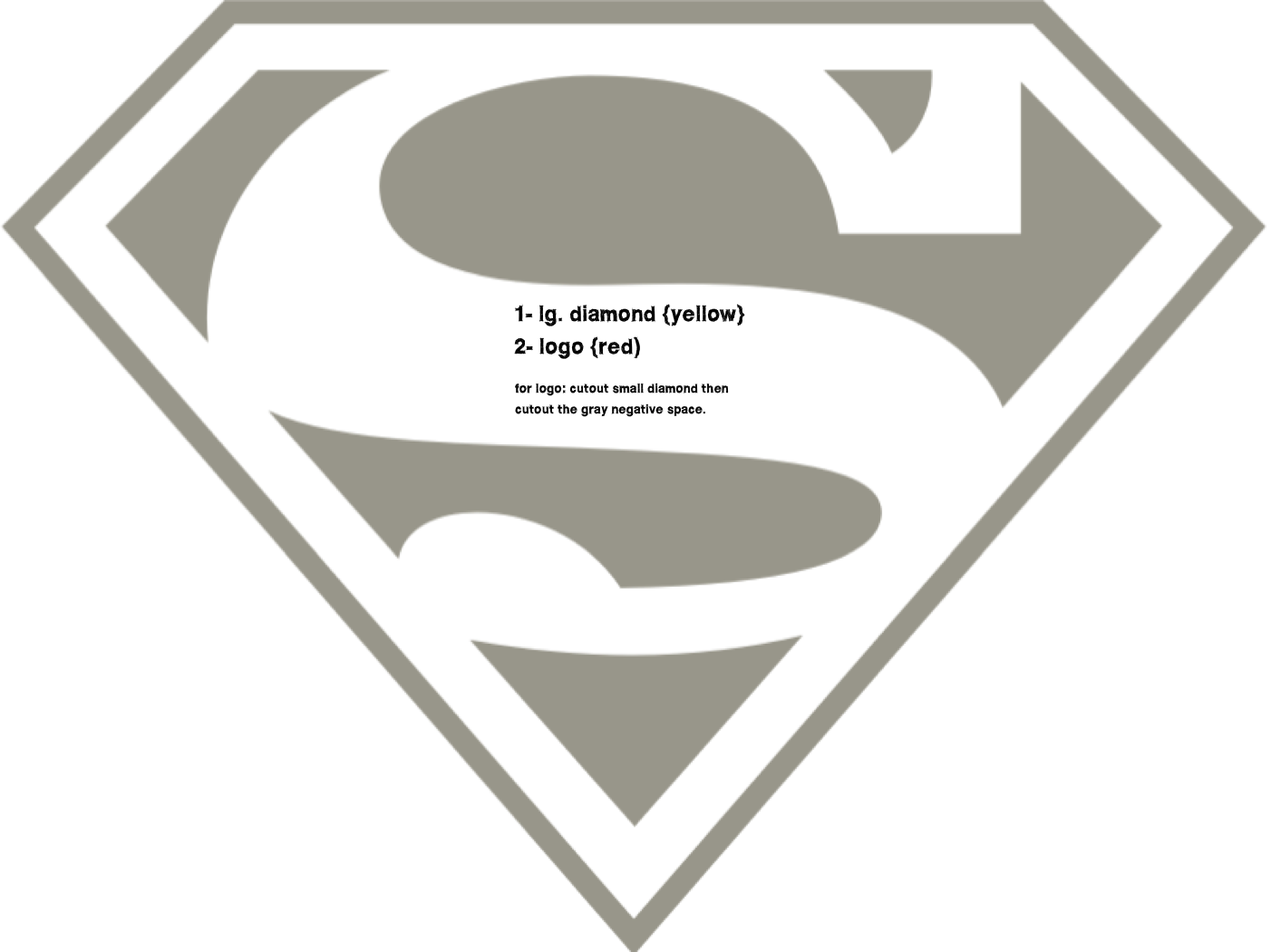 15 superman logo template images printable superman logo superman logo outline and blank. Black Bedroom Furniture Sets. Home Design Ideas