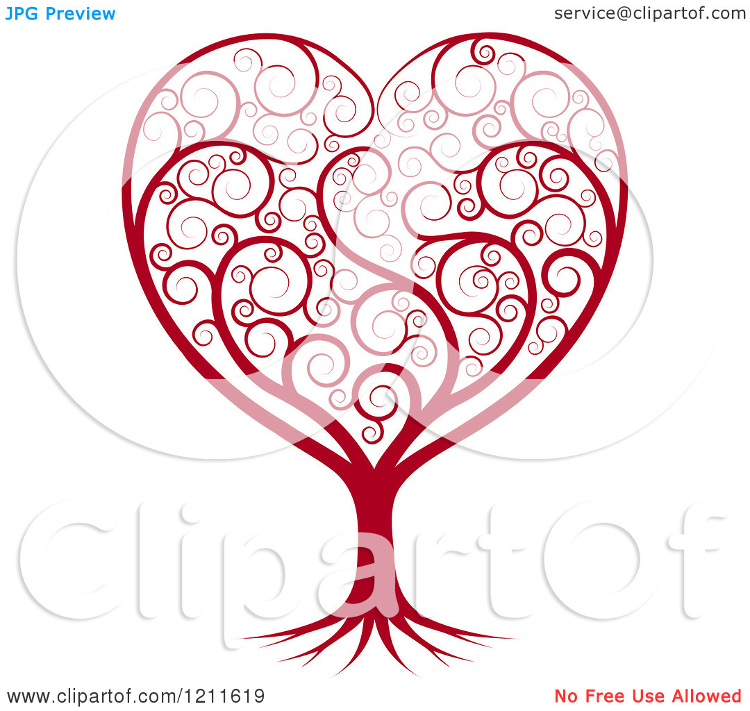 15 Heart Tree Vector Graphics Swirls Images