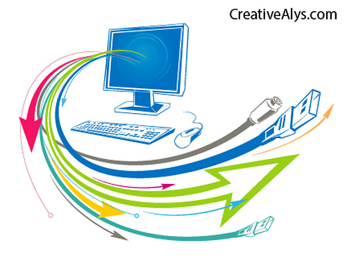 5 Free Technology Vector Graphics Images