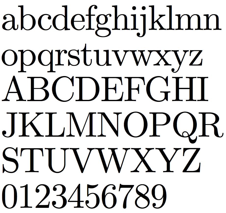 Times New Roman Font Style
