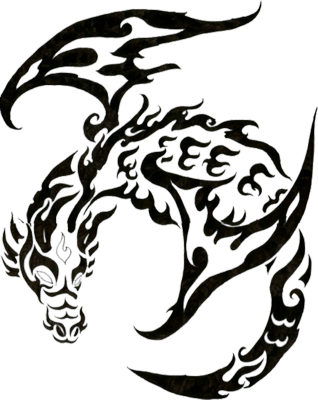12 Dragon Skull PSD Images