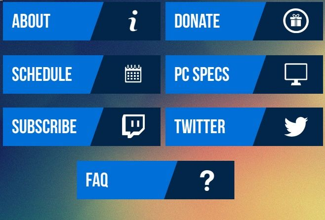 16 Twitch Panel Free Psd Images Twitch Overlay Template