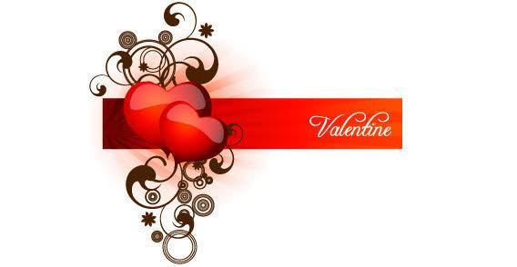 Valentine Heart Banner Clip Art Free