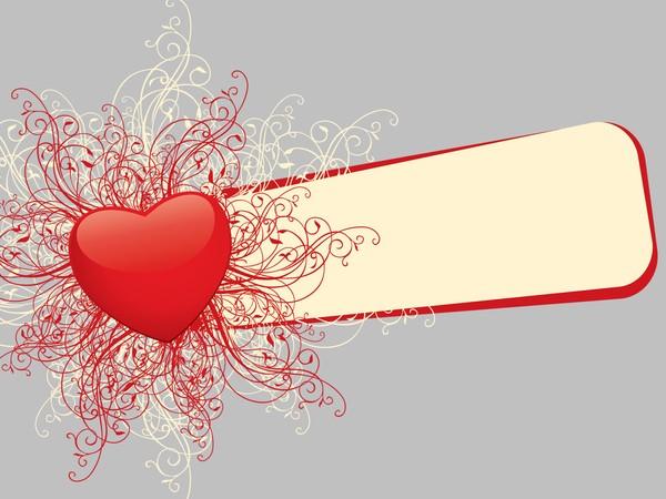 Valentine Heart Banner Template