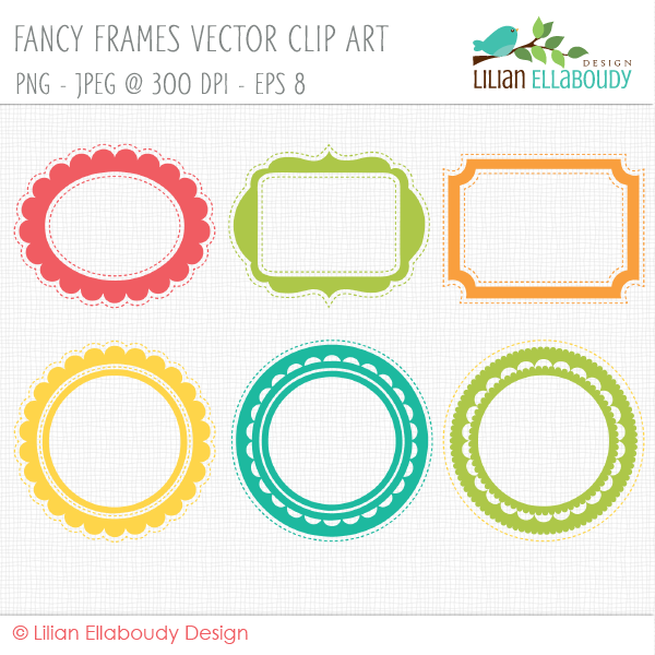 Vector Fancy Frame Clip Art