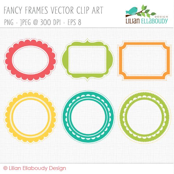 Vector Fancy Frame Clip Art