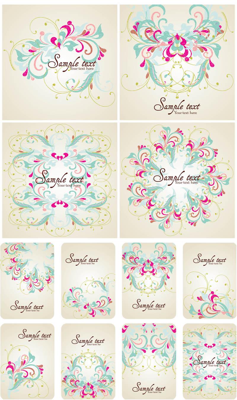 Vector Floral Frames Clip Art