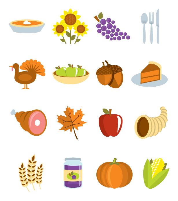 15 Thanksgiving Vector Icon Images