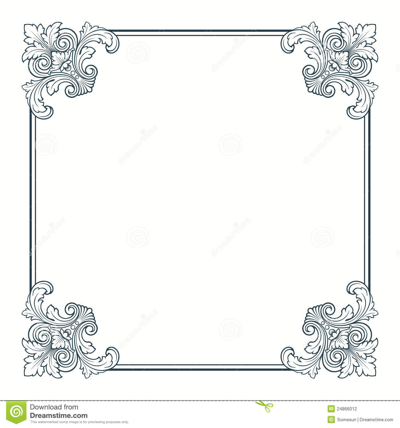 Vintage Borders and Frames Vectors
