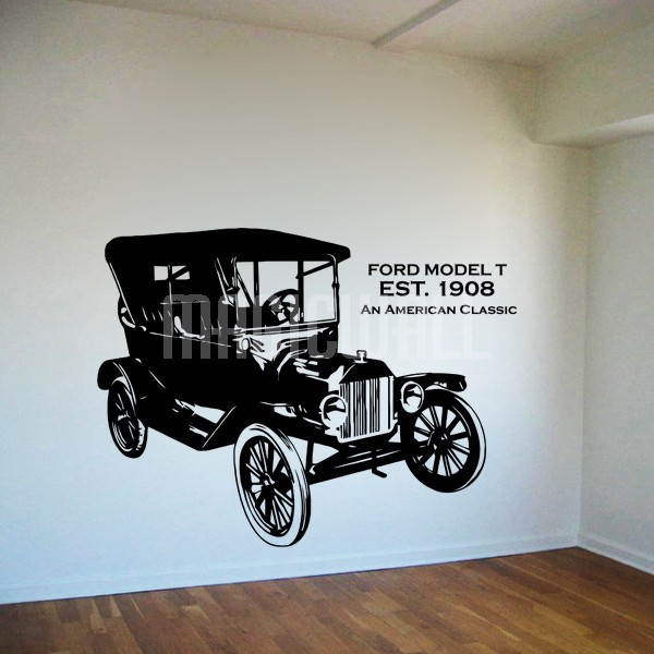 Vintage Car Decals Stickers