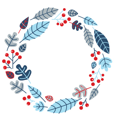 Vintage Christmas Wreath Vector Free
