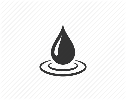 Water Drop Icon Black