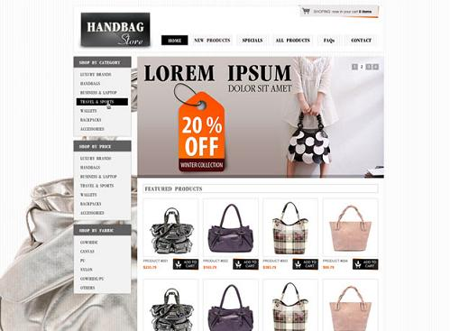 Website Shopping Templates Free