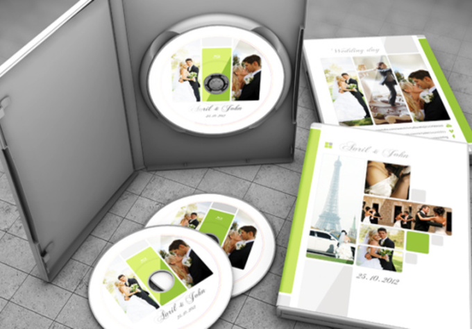 Wedding DVD Cover Template PSD