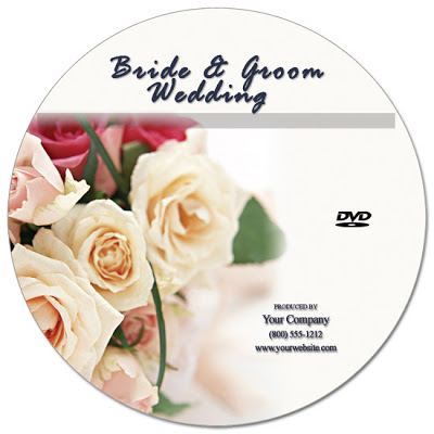 Wedding DVD Label Template