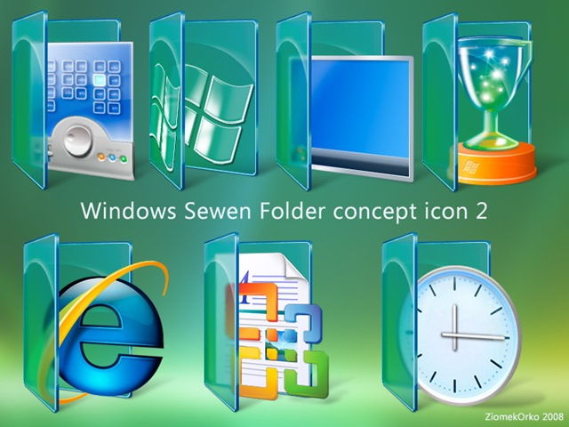 Windows 7 Desktop Folder Icons