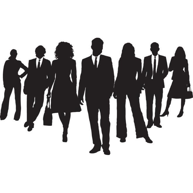 Women Business People Silhouette