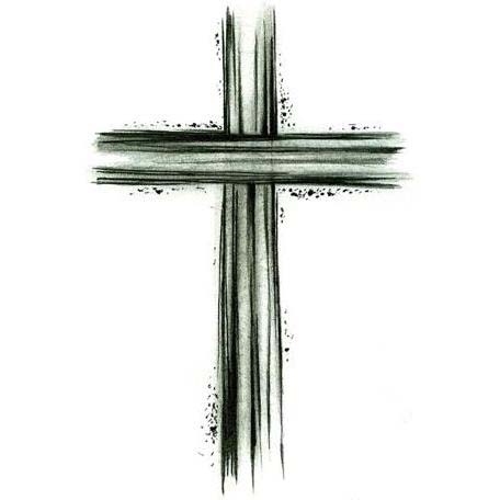 Wooden Cross Tattoo Sketch