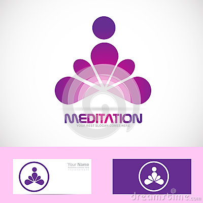 13 Meditation Logo Vector Elements Images