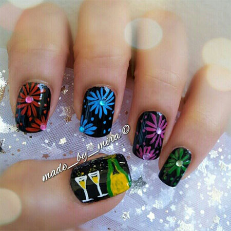 11 New Year's Nail Art Designs Images