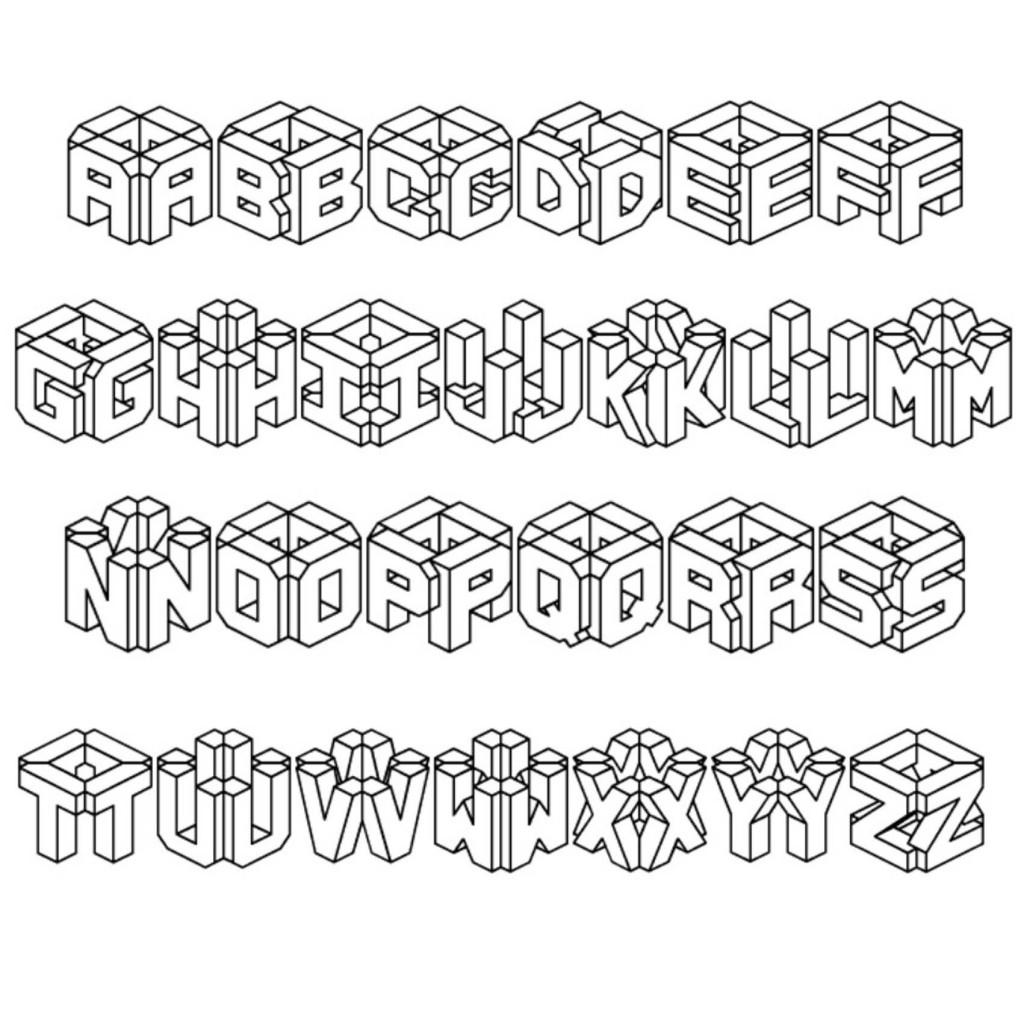 10 3D Graffiti Alphabet Fonts Images