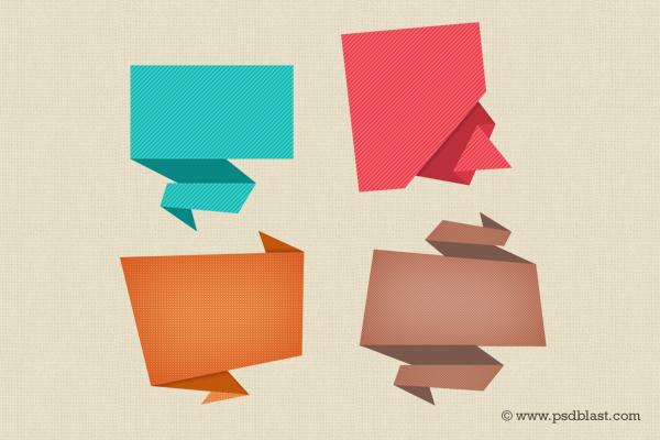 5 Speech Bubbles PSD Images