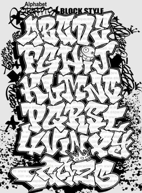 Alphabet Graffiti Style Letters